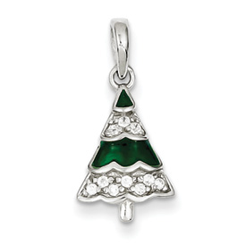 Sterling Silver CZ Christmas Tree