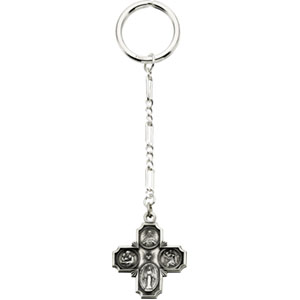 Four Way Medal Key Chain