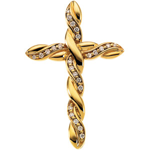 CROSS PENDANT W/DIAMOND
