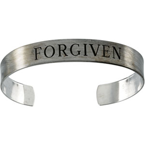 Antiqued Forgiven Cuff Bracelet
