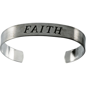 Antiqued Faith Cuff Bracelet