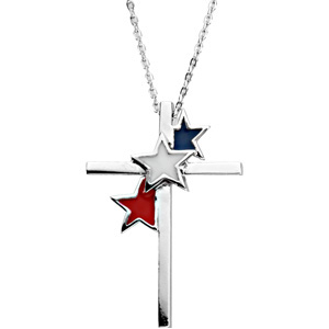 United We Stand Cross Pendant & Chain