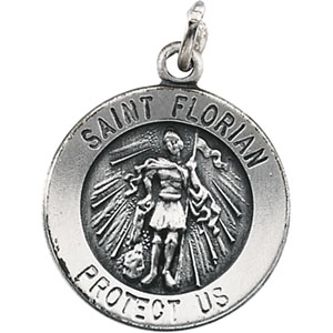 Round St. Florian Medal
