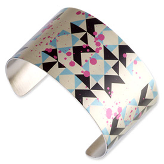 Stainless Steel Splatter Cuff Bangle