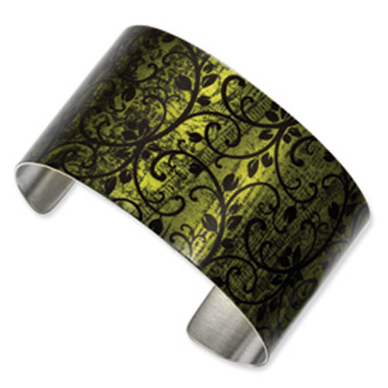 Stainless Steel Garden Lace Cuff Bangle