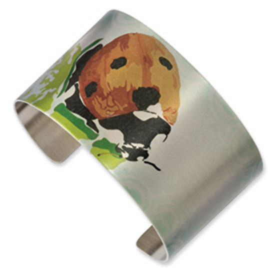 Stainless Steel Lady Bug Cuff Bangle