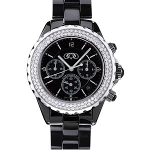 Ceramic Couture Watch with CZ's