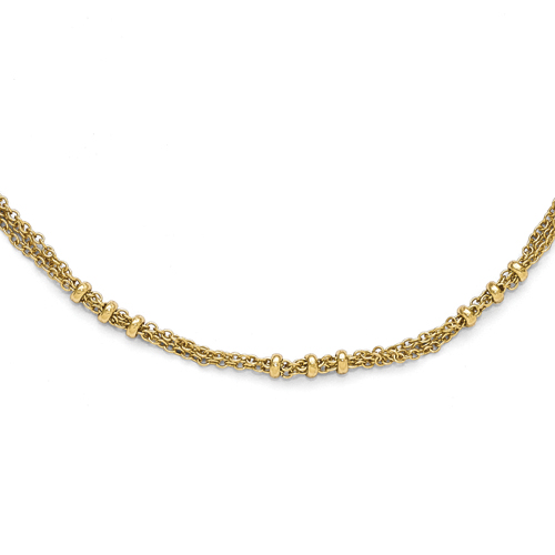 Gold-Tone Downton Abbey 3 Bead Design 36in Necklace