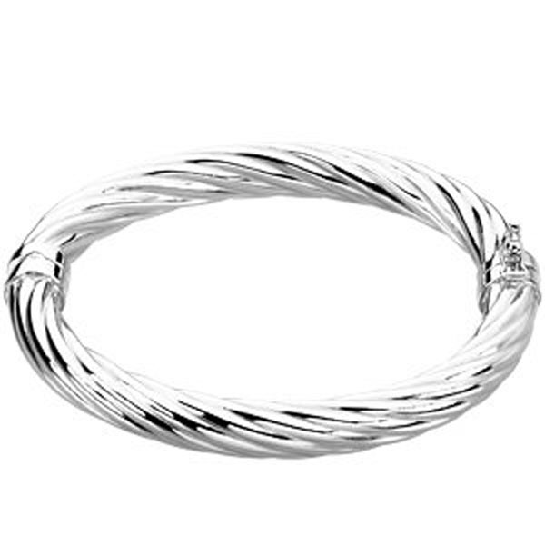 8 mm Sterling Silver Hinged Bangle