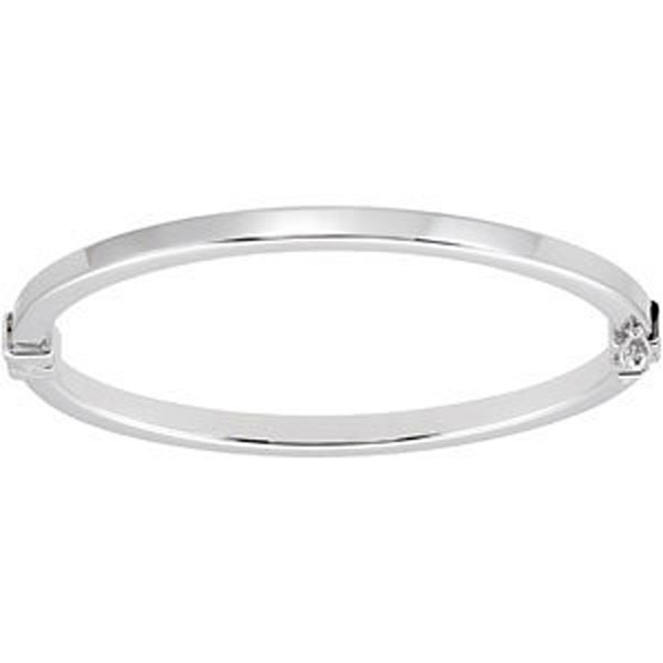 4 mm Hinged Sterling Silver Polished Bangle Bracelet