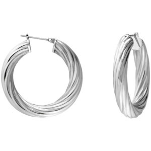 Amalfi™ Immersion Plated Twisted Hoop Earrings