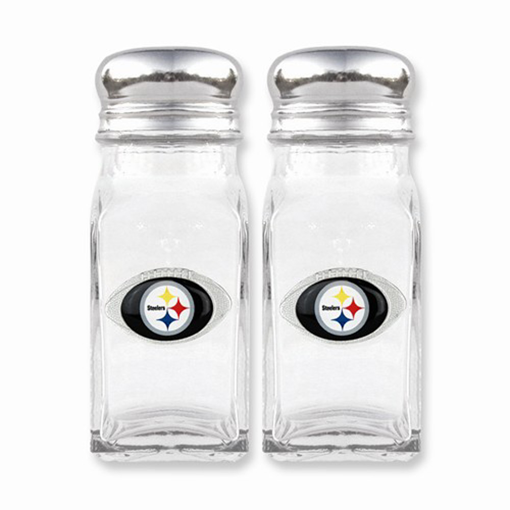 NFL Steelers Glass Salt and Pepper Shakers