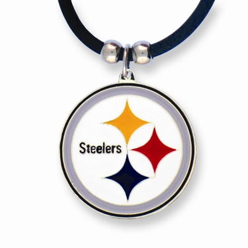 NFL Steelers Enameled Zinc 22in Necklace