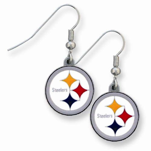NFL Steelers Enameled Zinc Dangle Earrings