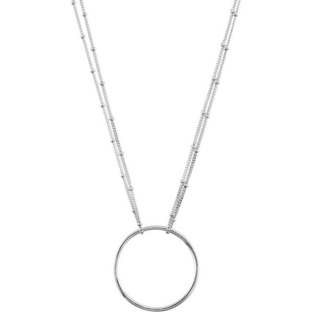 Necklace with Circle Dangle