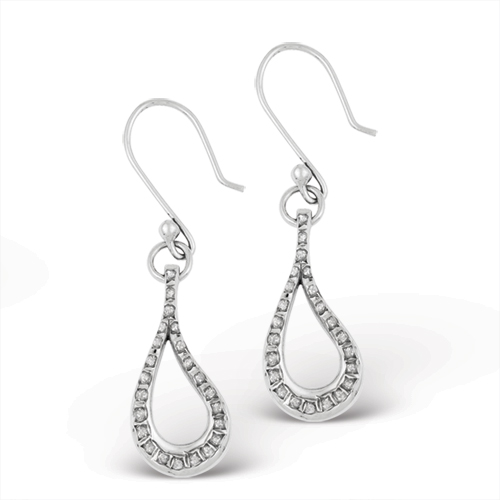 Sterling Silver Diamond Mystique Teardrop Earrings