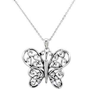 The Butterfly Principle Pendant & Chain