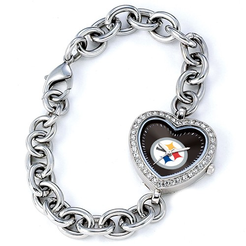 Ladies NFL Pittsburgh Steelers Heart Watch
